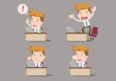 Geschäftsmann-Reihe - Büro- und Schreibtischsatz Lizenzfreie Stockbilder