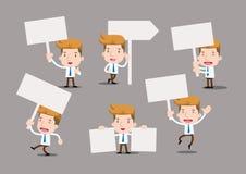 Geschäftsmann-Reihe - leerer Zeichensatz Lizenzfreies Stockfoto