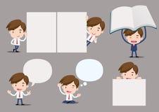 Geschäftsmann-Reihe - Leerkartensatz Lizenzfreie Stockbilder