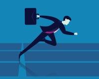 Geschäftsmann Running auf Bahn Lizenzfreies Stockbild