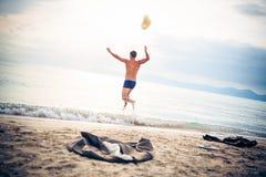 Geschäftsmann-Running Into The-Meer Lizenzfreies Stockfoto