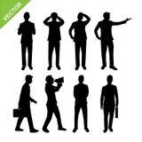 Geschäftsmann-Schattenbildvektor Stockbild