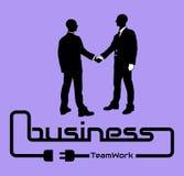 Geschäftsmann-Schattenbildweiß für Netz Stockfotos
