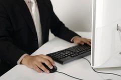 Geschäftsmann-Schreiben Lizenzfreie Stockfotos