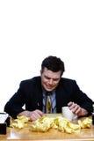 Geschäftsmann-Schreien stockfoto