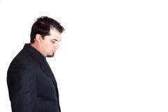Geschäftsmann-Seitenprofil Stockbilder