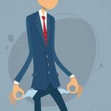 Geschäftsmann Show Empty Pocket, Dreheninnere - heraus Lizenzfreie Stockfotografie