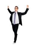 Geschäftsmann-Siegerlauf Lizenzfreie Stockfotos