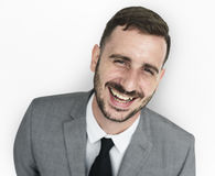 Geschäftsmann Smiling Happiness Portrait lizenzfreie stockbilder