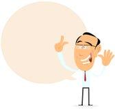 Geschäftsmann-Sprache-Luftblasen-Zeichen Stockbilder
