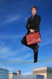 Geschäftsmann-Stellung Stockfoto