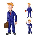 Geschäftsmann-With Suit Vector-Illustration Lizenzfreie Stockfotografie