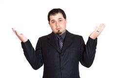 Geschäftsmann teilt skeptisches aus Lizenzfreie Stockbilder