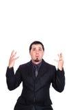 Geschäftsmann teilt Umkippen aus Lizenzfreies Stockfoto