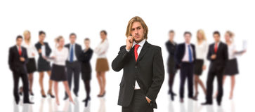 Geschäftsmann am Telefon Lizenzfreies Stockfoto