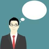 Geschäftsmann Thought Bubble Lizenzfreies Stockfoto