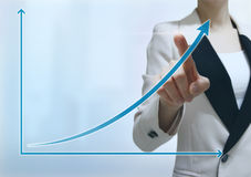 Geschäftsmann-Touch Screen Lizenzfreies Stockfoto