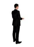 Geschäftsmann tragen etwas Stockbild