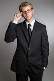 Geschäftsmann-tragende Gläser Stockfotografie