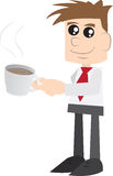 Geschäftsmann-trinkender Kaffee Stockbilder