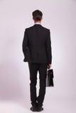 Geschäftsmann u. Memorandum, hintere Ansicht Lizenzfreie Stockfotos