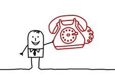 Geschäftsmann u. Telefon Lizenzfreie Stockbilder