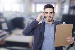 Geschäftsmann und Büros stockbilder