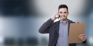 Geschäftsmann und Büros stockfotografie