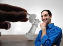 Geschäftsmann und chess-5 lizenzfreies stockfoto