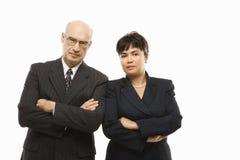 Geschäftsmann und Frau. Stockbild