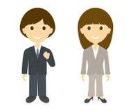 Geschäftsmann und Frauen Stockbilder