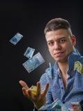 Geschäftsmann und Geld lizenzfreies stockfoto