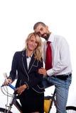 Geschäftsmann und Geschäftsfrau stockfotografie