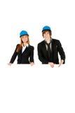 Geschäftsmann und Geschäftsfrau. Lizenzfreies Stockbild