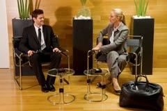 Geschäftsmann und Geschäftsfrau Stockfoto