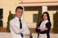 Geschäftsmann und Geschäftsfrau Lizenzfreies Stockbild