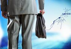 Geschäftsmann und Geschäftsskizzen Lizenzfreie Stockfotos