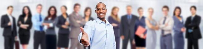 Geschäftsmann und Gruppe von Personen lizenzfreies stockbild