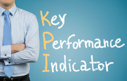 Geschäftsmann und KPI Stockfotos