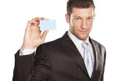 Geschäftsmann und Kreditkarte Lizenzfreies Stockbild