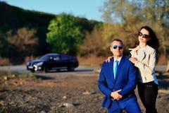 Geschäftsmann und Mädchen lizenzfreies stockbild