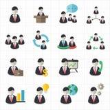 Geschäftsmann- und Managementikonen Stockbild