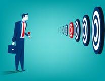 Geschäftsmann und mehrfache Ziele Stockbilder
