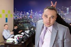 Geschäftsmann und Personal von Angestellten Lizenzfreies Stockfoto
