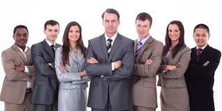 Geschäftsmann und professionelles multinationales Geschäftsteam Lizenzfreie Stockbilder
