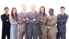 Geschäftsmann und professionelles multinationales Geschäftsteam Stockfotografie