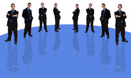 Geschäftsmann und question-1 Lizenzfreies Stockbild