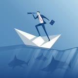Geschäftsmann und Risiko lizenzfreie abbildung