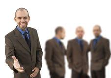 Geschäftsmann und sein Team Lizenzfreie Stockbilder