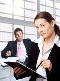 Geschäftsmann und Sekretär Stockbilder